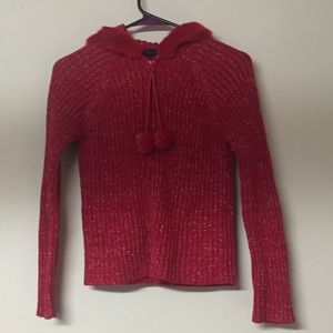 American Girl Red Sparkle Hooded Jacket